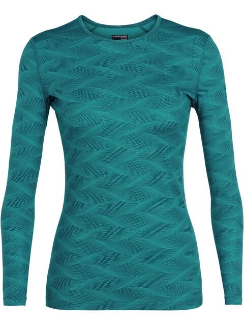 Icebreaker W's 200 Oasis Curve LS Crewe Shirt Kingfisher/Arctic Teal